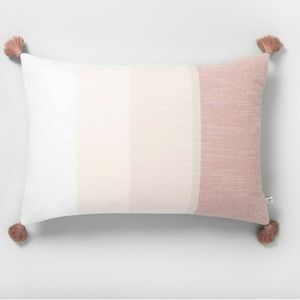 Hearth & Handy rectangular throw pillow peach fros
